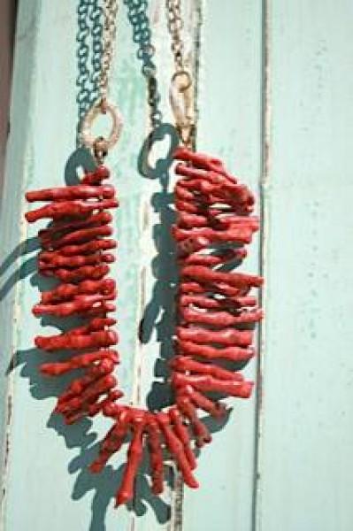 Fiva Korallenkette Rot-Gold