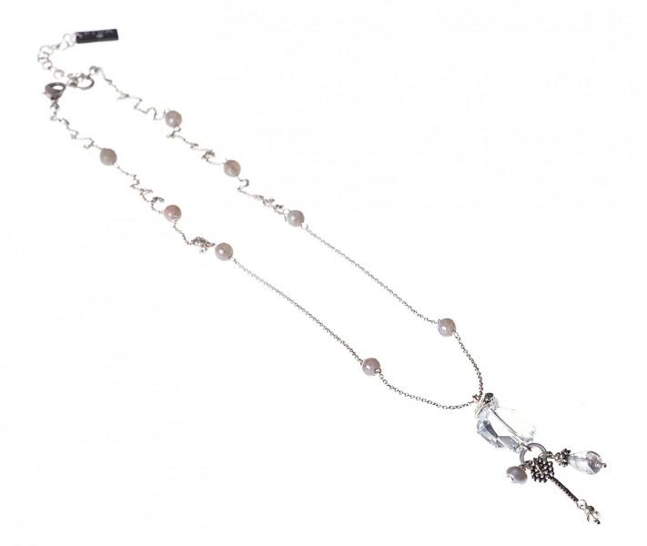Kette Fiva 16061 Achat-Grau-Silber