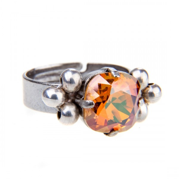 Ring Fiva 208 Orange-Silber