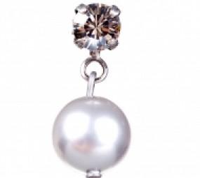Perl Ohrringe Silberglanz, 1Paar