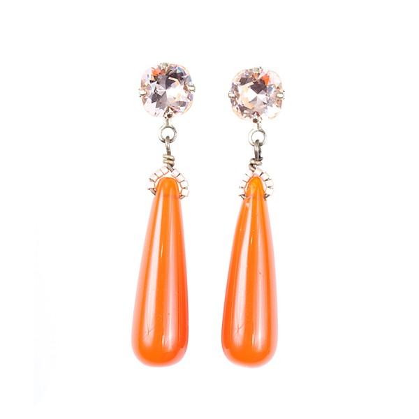 Ohrhänger Tropfen in Orange
