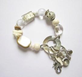 Fiva Sommer Armband Weiß Perlmuttring