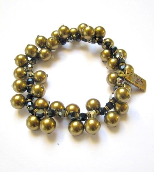 Fiva Armband Brass Pearl