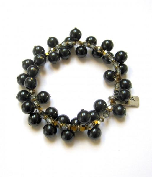Fiva Armband Black Pearl Drops