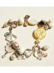 Armband Silber Gold Rose`