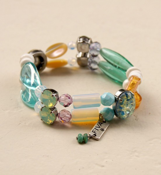 Armband Aqua-Pastell