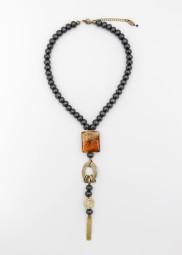 Halskette Murano Orange