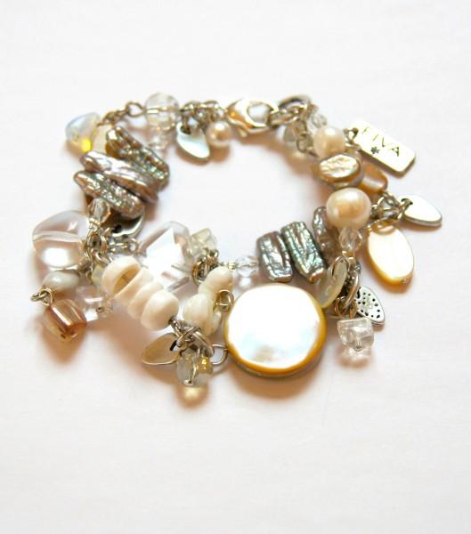Armband Perlmutt-Bergkristall
