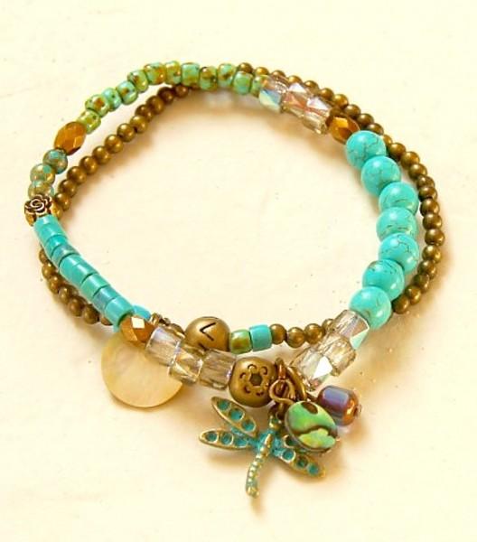 Armband Türkis-Libelle