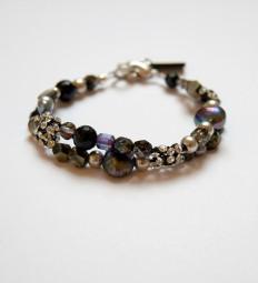 Armband Crystalmesh-Schwarz-Lila