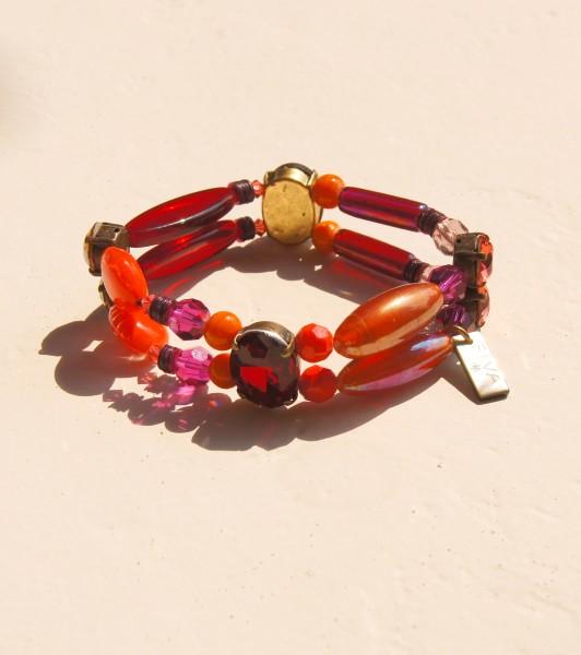 Armband Rot-Orange-Pink