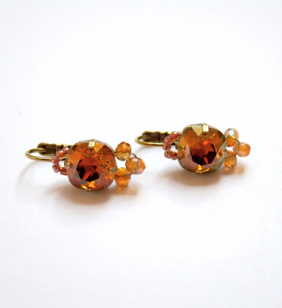 Basic Ohrringe Crystal Copper