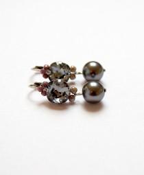 Fiva Ohrring Basic , Graue Perle
