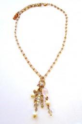 Halskette Champagner-Rose`mit Rosenquarz