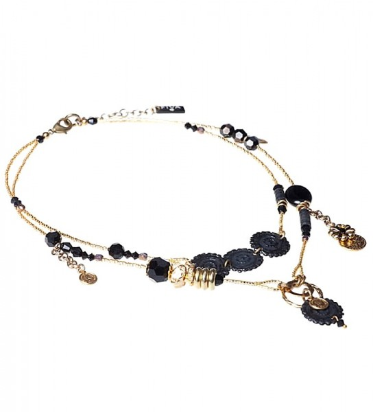 Fiva Collier 17051 Schwarz-Golden
