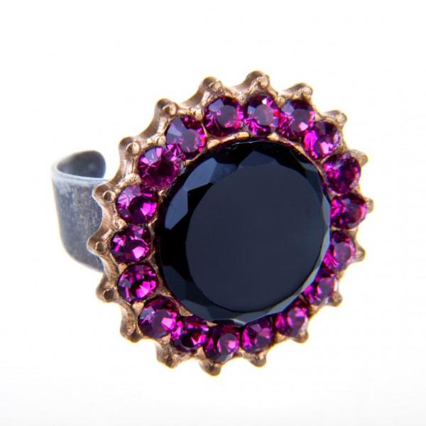 Ring Fiva 207 Schwarz-Fuchsia
