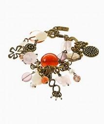 Armband 27663 Bronze-Rosenquarz