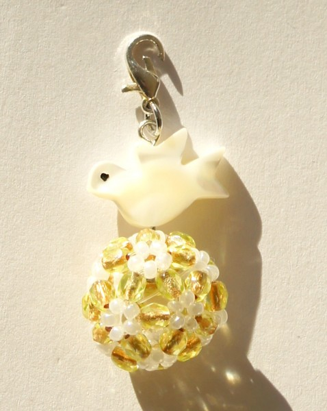 Anhänger Flowerball Lemon