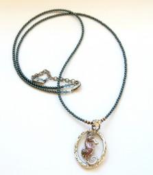 Halskette lang mit Seepferdanhänger