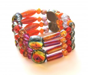 Armband Pink Orange Rot