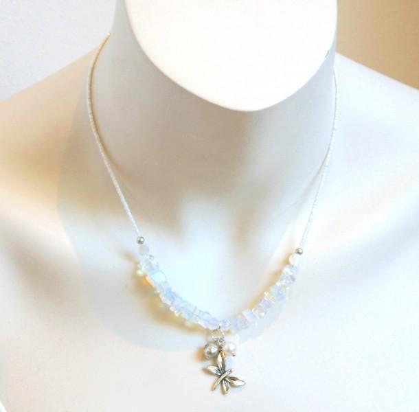 Halskette Libelle-Opalith