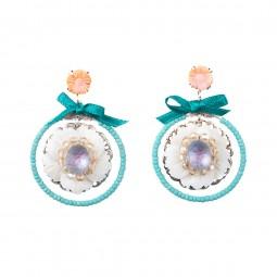 Ohrhänger Fiva 60691 Vintage Korallenblümchen