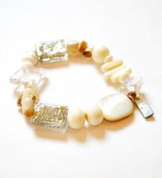 Fiva Armband Bergkristall Perlmutt