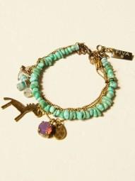 Armband Boho Türkis-Bronze