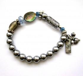Armband Graue Perle Abalone