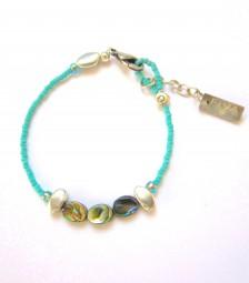 Fiva Armband fein Türkis-Abalone