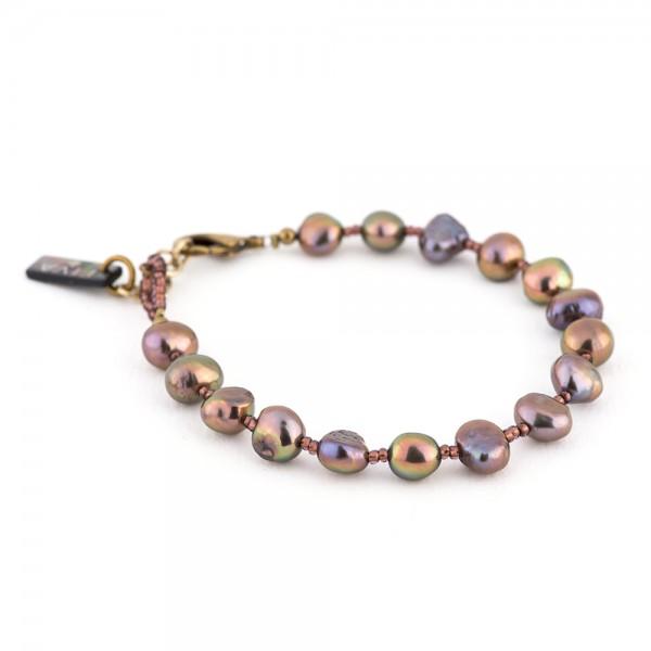Armband A13 lila Süßwasserperlen