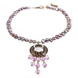 Perlenkette 1016035 Fliederfarben