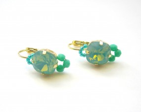 Fiva Basic Ohrringe Pazifik Opal Türkis Gold