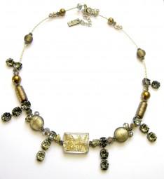 Collier Pyrith-Murano-Khaki