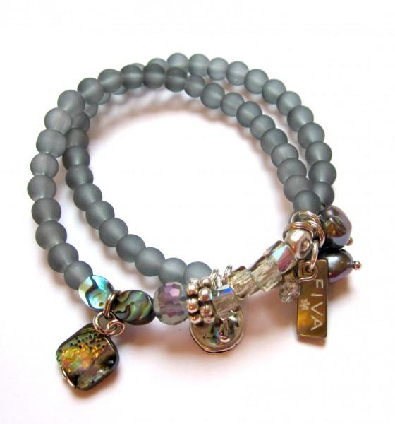 Armband Grau-Abalone