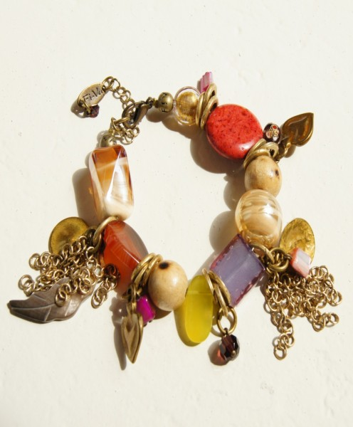 Armband Edel-Bunt-Altgoldfarben