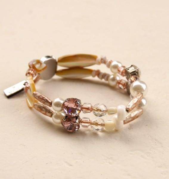 Armband Perle-Rose`