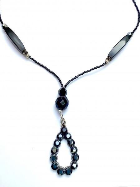 Fiva Halskette Ebenholz schwarz