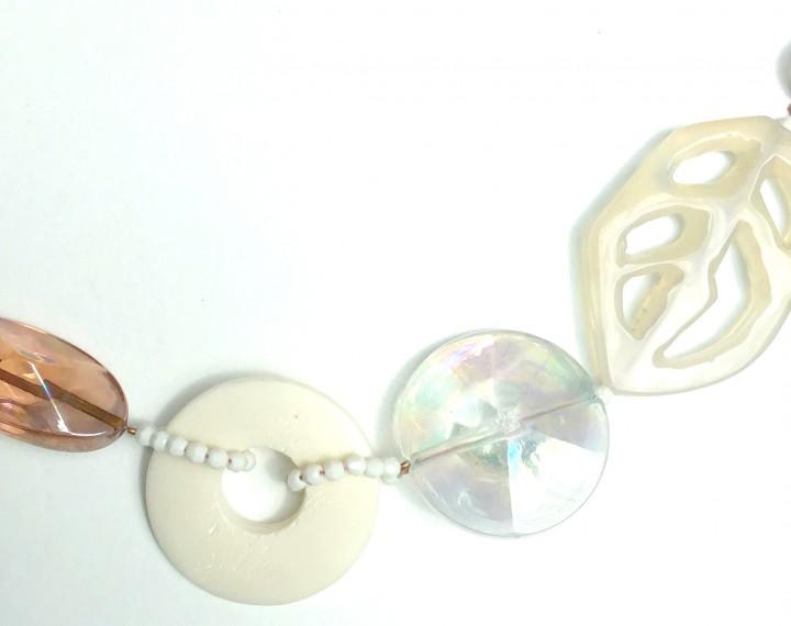 Halskette Achatblatt-Regenbogenschimmer
