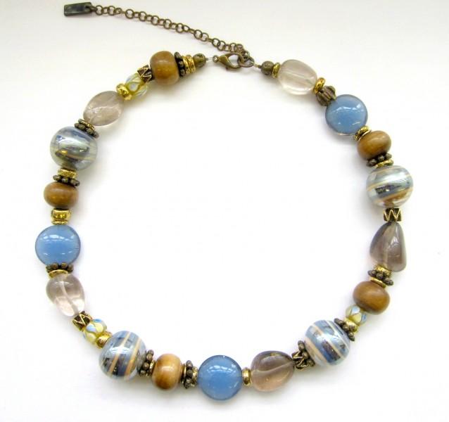 Halskette Zartblau