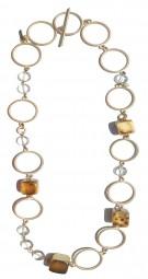Halskette lang Holzwürfel