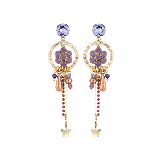 Ohrhänger Fiva 002 Gold-Violet