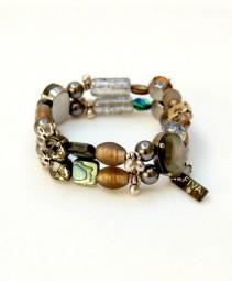 Armband Blackshell-Minkmuschel-Paua