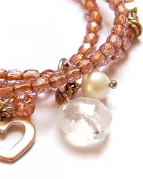 Armband Rose`Kristall
