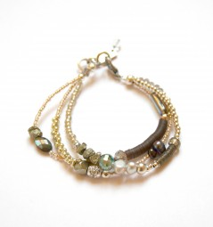 Armband Pyrit-Grau-Silber