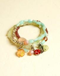 Armband Sorbetfarben mit Jade & Amazonit