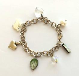 Bettelarmband Silber-Perlmuttvogel