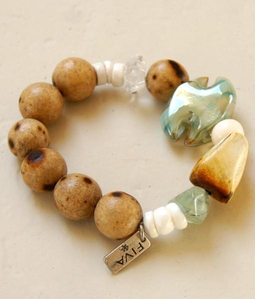 Armband Holz-Lindgrün