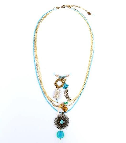 Fiva XL Sommerkette Türkis 17541