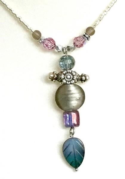 Halskette Perlmuttblatt